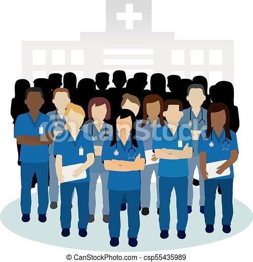 conceito, grupo, zangado, vetorial, enfermeira, ou, irritada - csp55435989