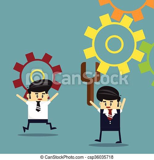 conceito negócio, work., sucesso, equipe - csp36035718