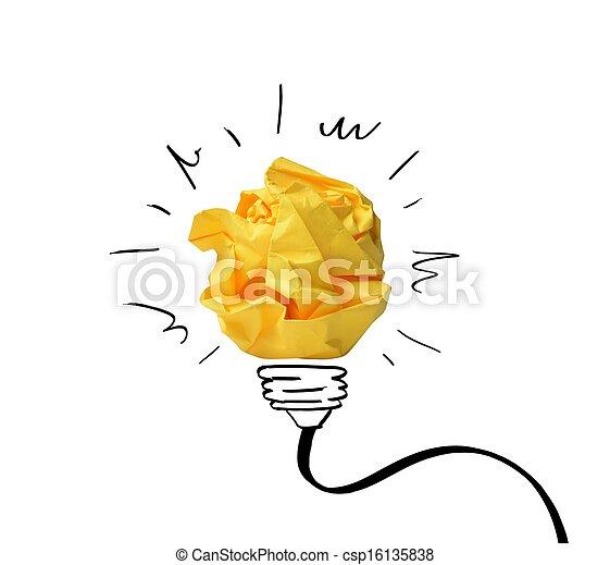 conceito, notas, papel, idéia - csp16135838