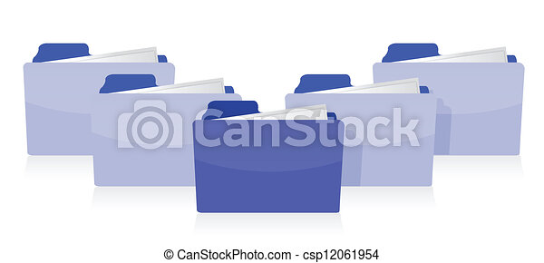 conceito, organizado, documentos - csp12061954