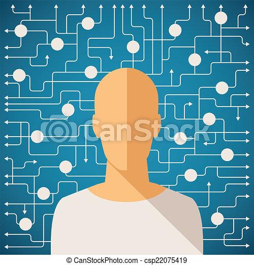 conceito, processo, decisão, vetorial, human, fazer, difícil - csp22075419
