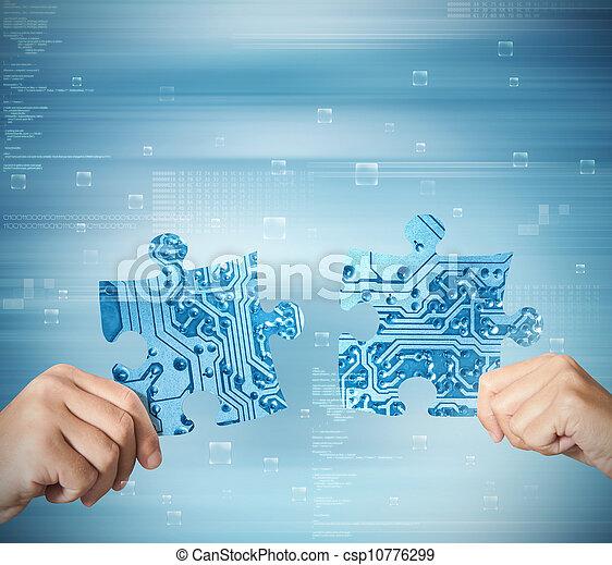 conceito, sistema, integração - csp10776299