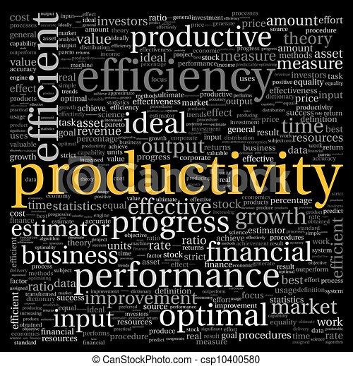 conceito, tag, produtividade, nuvem - csp10400580