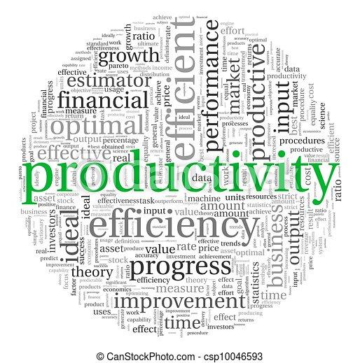 conceito, tag, produtividade, nuvem - csp10046593