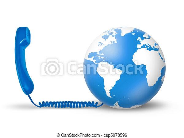 conceito, telecomunicações - csp5078596