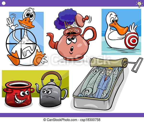 conceitos, jogo, idéias, caricatura - csp18300758