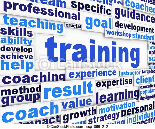 conceitual, treinamento, desenho, mensagem - csp10661212