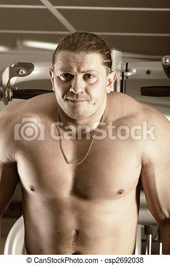 Concentrated bodybuilder - csp2692038