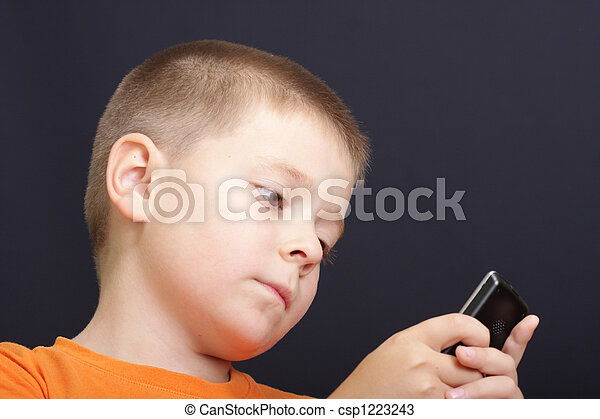 Concentrated look to phone - csp1223243