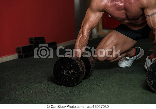 Concentrating For A Deadlift - csp16027030