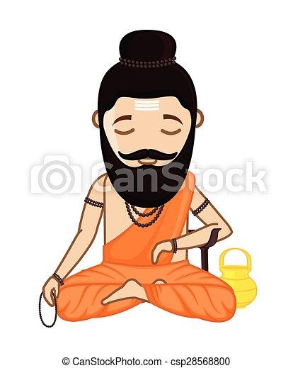 concentrating maharishi vishvamitra hindu saint vector vector rh canstockphoto com santa clip art borders santa clip art funny