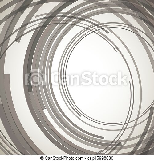 Concentric circles abstract element - csp45998630