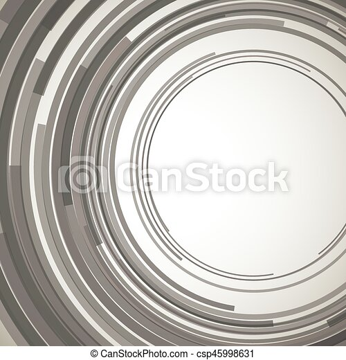Concentric circles abstract element - csp45998631