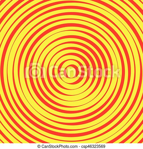 Concentric circles, rings abstract pattern. Suitable as backgrounds or elements. - csp46323569