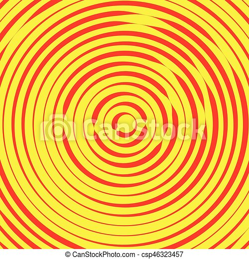 Concentric circles, rings abstract pattern. Suitable as backgrounds or elements. - csp46323457