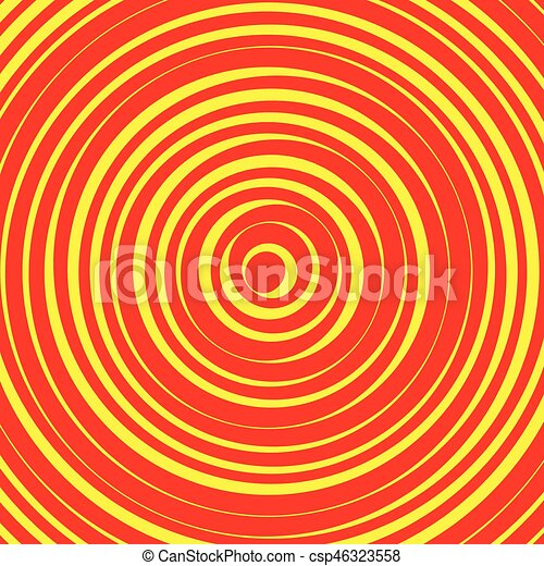 Concentric circles, rings abstract pattern. Suitable as backgrounds or elements. - csp46323558