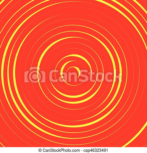 Concentric circles, rings abstract pattern. Suitable as backgrounds or elements. - csp46323491