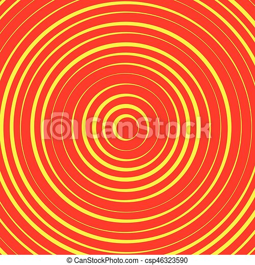 Concentric circles, rings abstract pattern. Suitable as backgrounds or elements. - csp46323590
