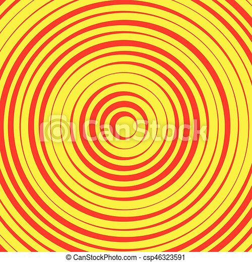 Concentric circles, rings abstract pattern. Suitable as backgrounds or elements. - csp46323591