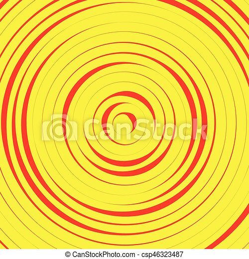 Concentric circles, rings abstract pattern. Suitable as backgrounds or elements. - csp46323487