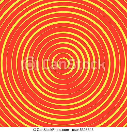 Concentric circles, rings abstract pattern. Suitable as backgrounds or elements. - csp46323548