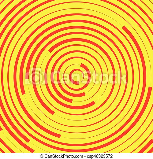 Concentric circles, rings abstract pattern. Suitable as backgrounds or elements. - csp46323572