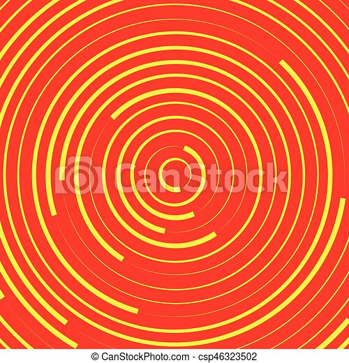 Concentric circles, rings abstract pattern. Suitable as backgrounds or elements. - csp46323502