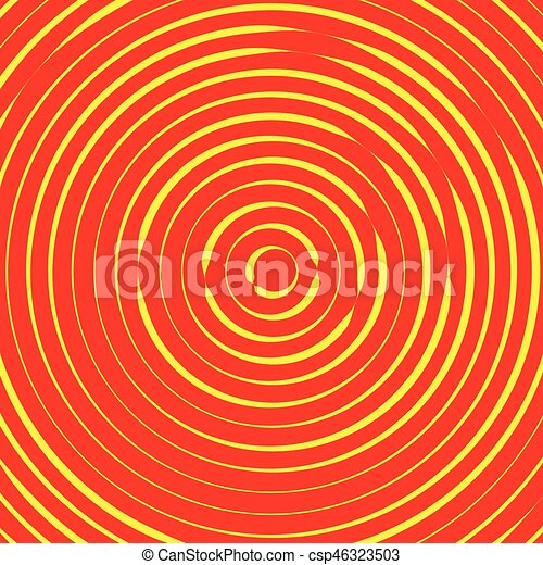 Concentric circles, rings abstract pattern. Suitable as backgrounds or elements. - csp46323503