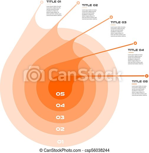 Concentric Infographics Step By Step In A Series Of Circle Element