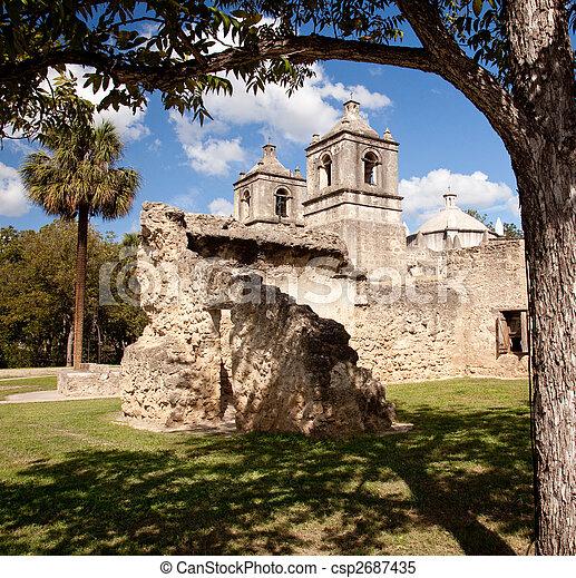 Misión San Antonio Concepción en Texas - csp2687435