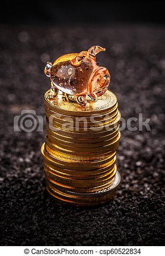 concept, économie, bitcoin - csp60522834