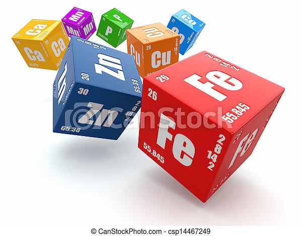 concept, élément, chemistry., table périodique, cubes. - csp14467249