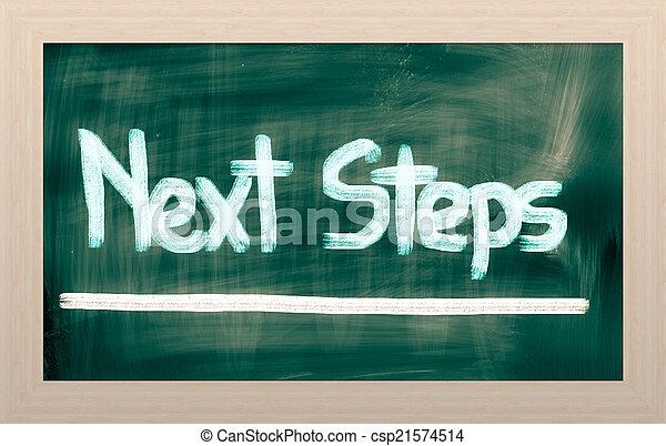 concept, étapes, suivant - csp21574514