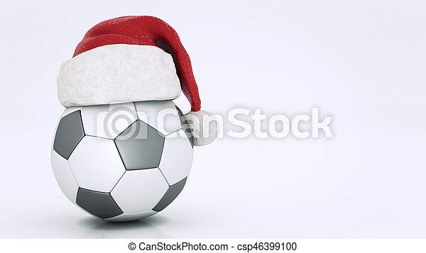 Concept Ubertragung Fussball Weihnachten Ball 3d