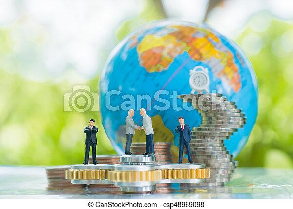 concept., δέσμευση , συμφωνία , συνεταιρισμόs , επένδυση  - csp48969098