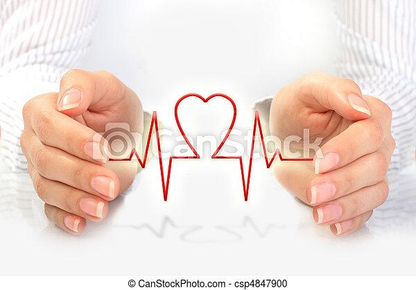 concept., κατάσταση υγείας ασφάλεια  - csp4847900