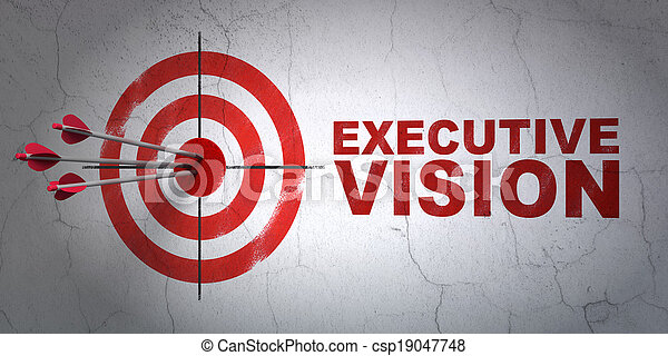 concept:, ターゲット, 成功, ビジネス, 壁, 経営者, 矢, 中心, ヒッティング, render, 背景, 赤, ビジョン, 3d - csp19047748