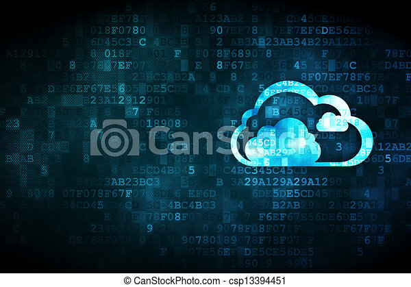 concept:, 數字的背景, 雲, 計算 - csp13394451