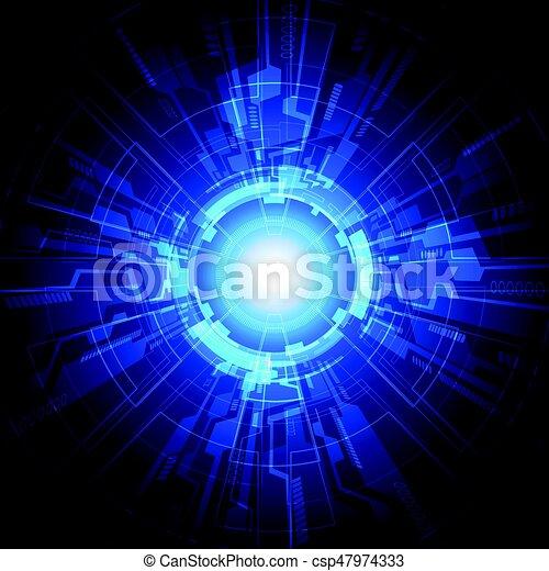 concept., abbildung, vektor, hintergrund, technologie, abstrakt - csp47974333