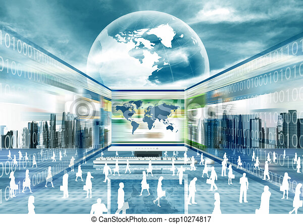 concept, affaires e - csp10274817