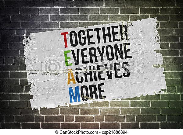 concept, affiche, -, ensemble, réalise, everyone, plus - csp21888894