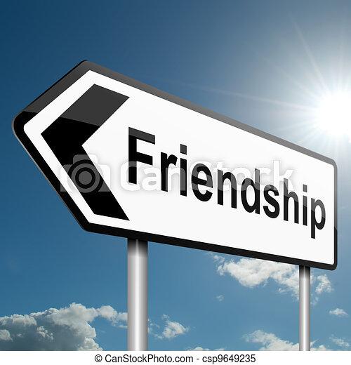 Un concepto de amistad. - csp9649235