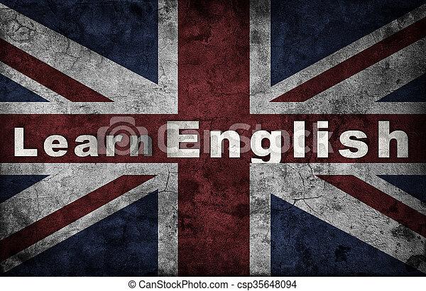 Aprendiendo el concepto inglés. - csp35648094