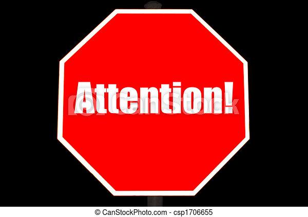 concept, arrêt, attention, signe - csp1706655