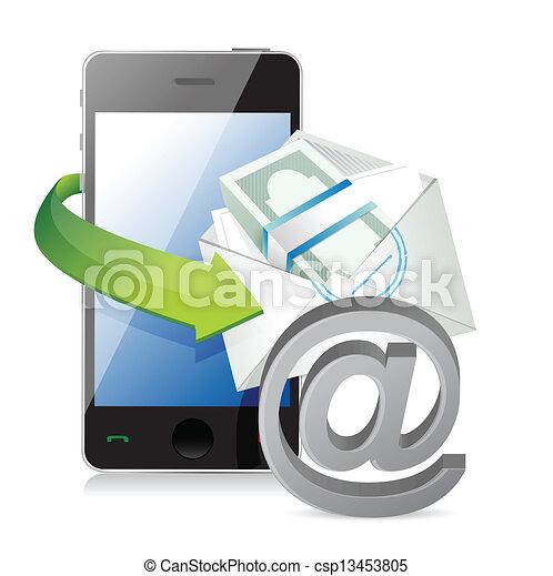 concept, betaling, zakelijk, online - csp13453805