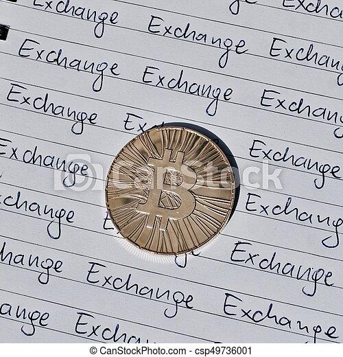 concept, bitcoin, échange - csp49736001
