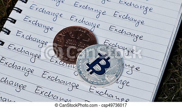 concept, bitcoin, échange - csp49736017