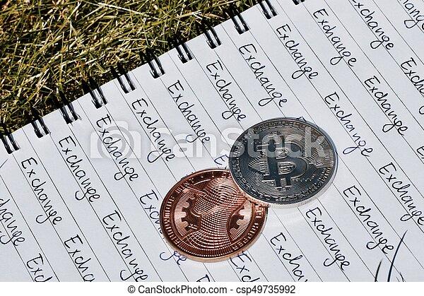 concept, bitcoin, échange - csp49735992