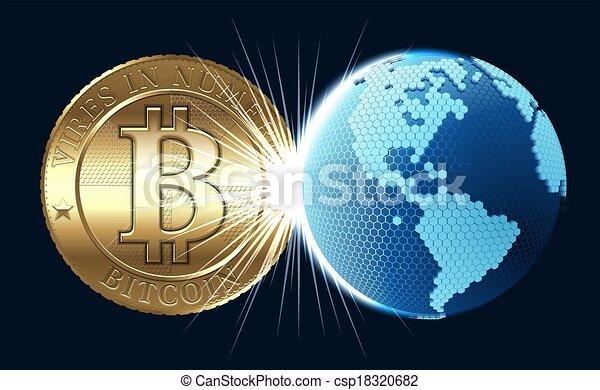 concept, bitcoin - csp18320682