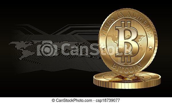 concept, bitcoin - csp18739077